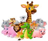 Gelukkig safari dierlijk beeldverhaal Royalty-vrije Stock Fotografie