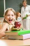 Gelukkig schoolmeisje Royalty-vrije Stock Fotografie