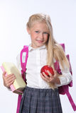 Gelukkig schoolmeisje Stock Foto's
