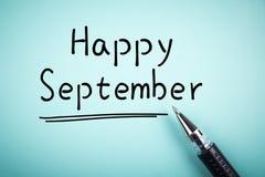 Gelukkig September Stock Foto's