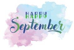 Gelukkig September Stock Afbeeldingen