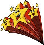 Gelukkig Shooting Stars Royalty-vrije Stock Afbeelding