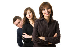 Gelukkig succesvol commercieel team. Royalty-vrije Stock Foto's