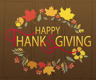 Gelukkig Thanksgiving day logotype, kenteken Royalty-vrije Stock Afbeelding