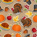 Gelukkig Thanksgiving day naadloos patroon met Royalty-vrije Stock Fotografie