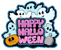 Gelukkig thema 3 van Halloween Royalty-vrije Stock Fotografie