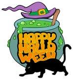 Gelukkig thema 4 van Halloween Stock Afbeelding