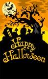 Gelukkig thema 6 van Halloween Stock Afbeelding