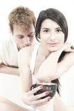 Gelukkig tienerjarenpaar Royalty-vrije Stock Foto's