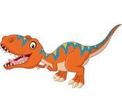 Gelukkig tyrannosaurusbeeldverhaal stock illustratie