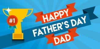 Gelukkig Vaderdagbericht Stock Illustratie