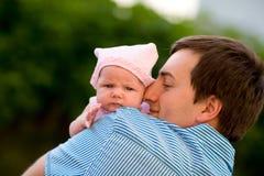 Gelukkig vaderschap Stock Afbeeldingen