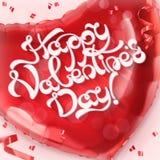Gelukkig Valentin Day Rode hartstuk speelgoed ballonvector royalty-vrije illustratie