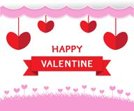 Gelukkig Valentine-dag vectorontwerp als achtergrond voor vakantie Royalty-vrije Stock Afbeeldingen