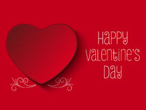Gelukkig Valentine Day Red Heart Royalty-vrije Stock Foto's