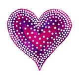 Gelukkig Valentine Day! Waterverf geschilderd hart, element voor uw mooi ontwerp Waterverfillustratie voor uw kaart of affiche royalty-vrije illustratie