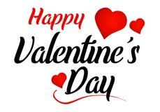 Gelukkig Valentine ` s Dag Messaeg Royalty-vrije Stock Afbeelding