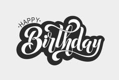 Gelukkig verjaardags typografisch ontwerp Stock Foto's