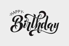 Gelukkig verjaardags typografisch ontwerp Royalty-vrije Illustratie