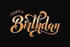 Gelukkig Verjaardags Typografisch vectorontwerp Vector Illustratie