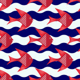 Gelukkig vissenpatroon stock illustratie