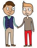 Gelukkig vrolijk homoseksueel paar Stock Illustratie