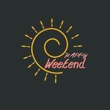 Gelukkig Weekend Royalty-vrije Illustratie