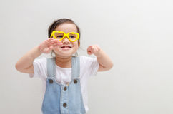 Gelukkig Weinig Aziatisch Meisje Stock Fotografie
