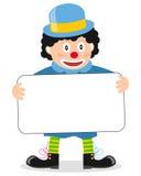 Gelukkig Weinig Clown met Banner Royalty-vrije Stock Foto