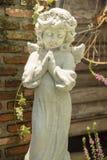 Gelukkig weinig engel Stock Foto's