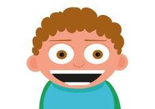 Gelukkig weinig glimlach gekreukte jongen stock illustratie