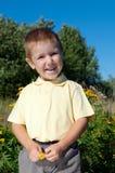 Gelukkig weinig jongen royalty-vrije stock fotografie
