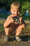 Gelukkig weinig jongensfoto Stock Afbeeldingen