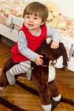 Gelukkig weinig kind Stock Fotografie
