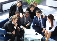 Gelukkig werkend commercieel team Royalty-vrije Stock Afbeelding