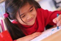 Gelukkig zes éénjarigenmeisje   Stock Foto
