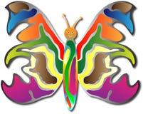 Gelukkig zij vlinder Stock Afbeeldingen