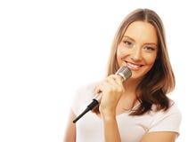 Gelukkig zingend meisje Royalty-vrije Stock Afbeeldingen