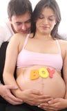 Gelukkig zwanger paar Stock Foto