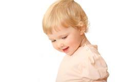 Gelukkige 1 éénjarigebaby stock afbeeldingen