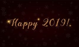 Gelukkige 2019! Royalty-vrije Stock Afbeelding