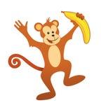Gelukkige aap Royalty-vrije Stock Afbeeldingen
