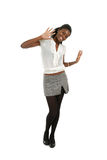 Gelukkige Afrikaanse Amerikaanse vrouw Stock Afbeelding