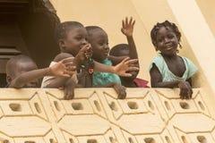Gelukkige Afrikaanse kinderen Stock Foto's