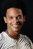 Gelukkige Afrikaanse mens Royalty-vrije Stock Afbeeldingen