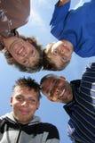 Gelukkige Amerikaan - Duitse familie Stock Foto's