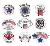 Gelukkige arbeidsdag op 7 September in de V.S. Stock Fotografie