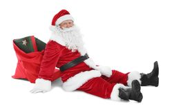 Gelukkige authentieke Santa Claus Royalty-vrije Stock Foto's