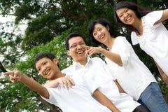 Gelukkige Aziatische familie Royalty-vrije Stock Foto