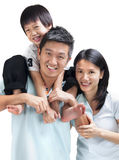 Gelukkige Aziatische familie Royalty-vrije Stock Afbeeldingen